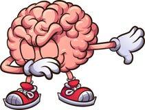El frotar rosado del cerebro de la historieta Imágenes de archivo libres de regalías