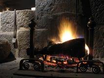 El fuego al invierno Foto de archivo libre de regalías