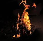 El fuego ardiente Foto de archivo libre de regalías