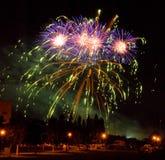 El fuego artificial Foto de archivo libre de regalías