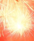 El fuego artificial abstracto estalla el fondo Foto de archivo libre de regalías