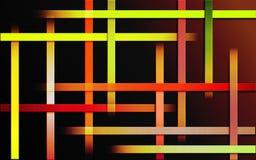 El fuego colorido traslapado del fondo de las rayas diseña - el papel pintado simple abstracto del mosaico del modelo de barras fotos de archivo