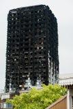 El fuego de la torre de Grenfell fotografía de archivo libre de regalías