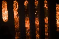 El fuego de las balas ardientes de soja Imagen de archivo