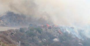 El fuego de plata ~ cerca del Palm Springs California ~ verano de 2013 Imagen de archivo libre de regalías