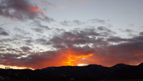 El fuego del cielo Fotografía de archivo libre de regalías