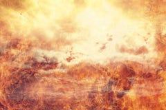 El fuego del infierno flamea el fondo abstracto Fotografía de archivo libre de regalías