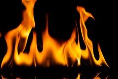 El fuego flamea el fondo foto de archivo