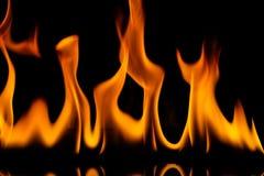 El fuego flamea el fondo fotografía de archivo libre de regalías