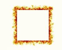 El fuego flamea el marco Foto de archivo
