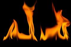 El fuego flamea el fondo fotos de archivo