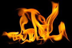 El fuego flamea el fondo imagenes de archivo