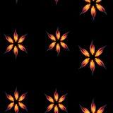 El fuego florece el modelo inconsútil Fotos de archivo