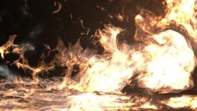 El fuego llena la pantalla