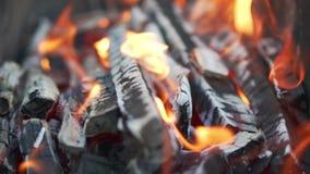 El fuego se quema Cámara lenta Llama hermosa y fascinante metrajes