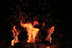 El fuego vuela Fotografía de archivo libre de regalías