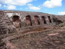 El Fuerte Archaeology ruins,Bolivia. Detail of Five Niches,El Fuerte,Samaipata, A UNESCO world heritage site Stock Image