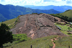 El Fuerte Archaeology ruins,Bolivia. View of El Fuerte the carved rock,Samaipata Stock Photo