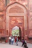 El fuerte de Agra es obra maestra arquitectónica del siglo XI de Mughal Foto de archivo