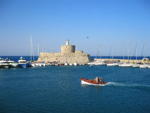 El fuerte de San Nicolás Isla de Rodas Grecia Imagen de archivo