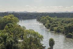 El Fuerte river in Mexico. El Fuerte river by El Fuerte in Sinaloa, Mexico Stock Photos