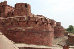 El fuerte rojo de Agra la India imagenes de archivo