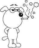 El fumar del perro Imagenes de archivo