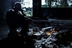 El fumar después de la lucha Fotografía de archivo libre de regalías
