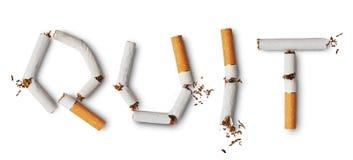 El fumar Quit Imagen de archivo libre de regalías