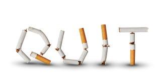 El fumar Quit Fotografía de archivo libre de regalías