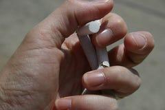 El fumar salido Imagen de archivo libre de regalías