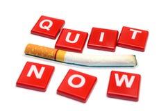 El fumar salido ahora 31 de mayo mundo ningún día del tabaco Imagen de archivo libre de regalías