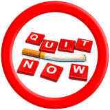 El fumar salido ahora 31 de mayo mundo ningún día del tabaco Fotografía de archivo