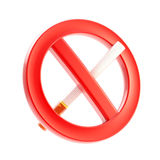 El fumar se prohibe la muestra prohibida Foto de archivo libre de regalías