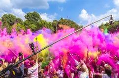 El funcionamiento Bucarest del color Imágenes de archivo libres de regalías