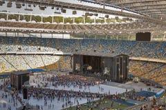 El funcionamiento de la banda de rock de las vacunas en Kiev imagen de archivo