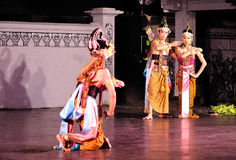 El funcionamiento de la danza de Ramayana Imágenes de archivo libres de regalías