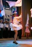 El funcionamiento de los soldados y marineros rusos, bailarines de la canción y conjunto de la danza del distrito militar de Leni Imagen de archivo