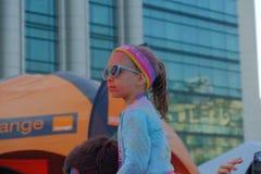 El funcionamiento 2017 del color en Bucarest, Rumania imagen de archivo