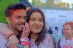 El funcionamiento 2017 del color en Bucarest, Rumania imágenes de archivo libres de regalías