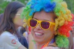El funcionamiento 2017 del color en Bucarest, Rumania fotografía de archivo libre de regalías