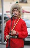 El funcionamiento del conjunto nacional bashkir Yandek (Bashkortostan) de los músicos y de los bailarines Fotos de archivo