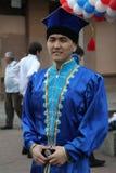 El funcionamiento del conjunto nacional bashkir Yandek (Bashkortostan) de los músicos y de los bailarines Imagen de archivo libre de regalías