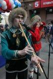El funcionamiento del conjunto nacional bashkir Yandek (Bashkortostan) de los músicos y de los bailarines Imágenes de archivo libres de regalías