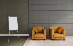 El funcionamiento y la sala de estar/3D rinden el vintage del lujo de la imagen Fotos de archivo