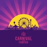El funfair del carnaval stock de ilustración