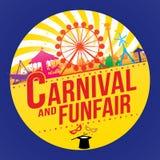 El funfair del carnaval ilustración del vector
