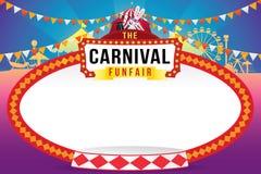 El funfair del carnaval y la demostración mágica libre illustration