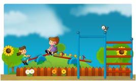 El funfair - patio para los niños Imagen de archivo libre de regalías