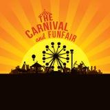 El funfair y la diversión del carnaval stock de ilustración